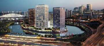1,700 new flats created on an island property in East London