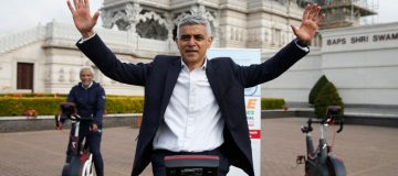 London Mayor Takes Part In Charity Cycle Ride For India Covid Relief Fund