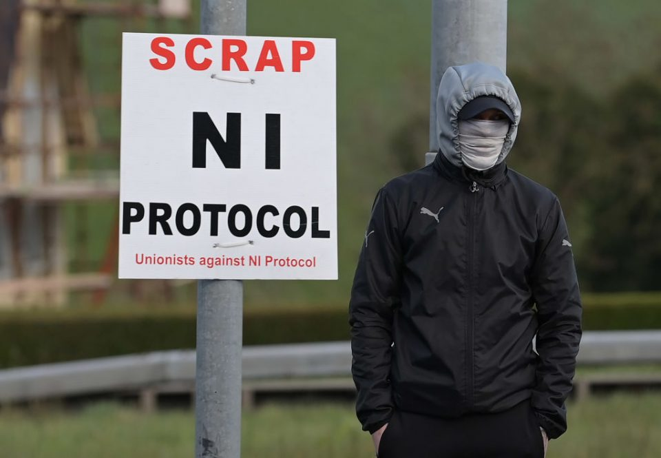 Loyalists Protest Over The Northern Ireland Protocol