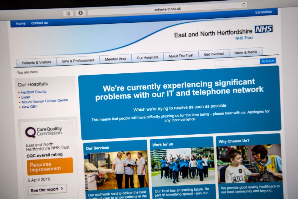 NHS Hospitals Across The UK Are Hit By Cyber Attack