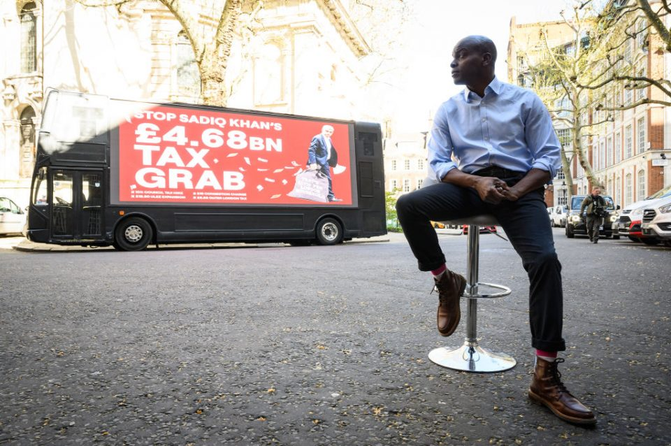 Shaun Bailey Launches His Mayor's Campaign Bus