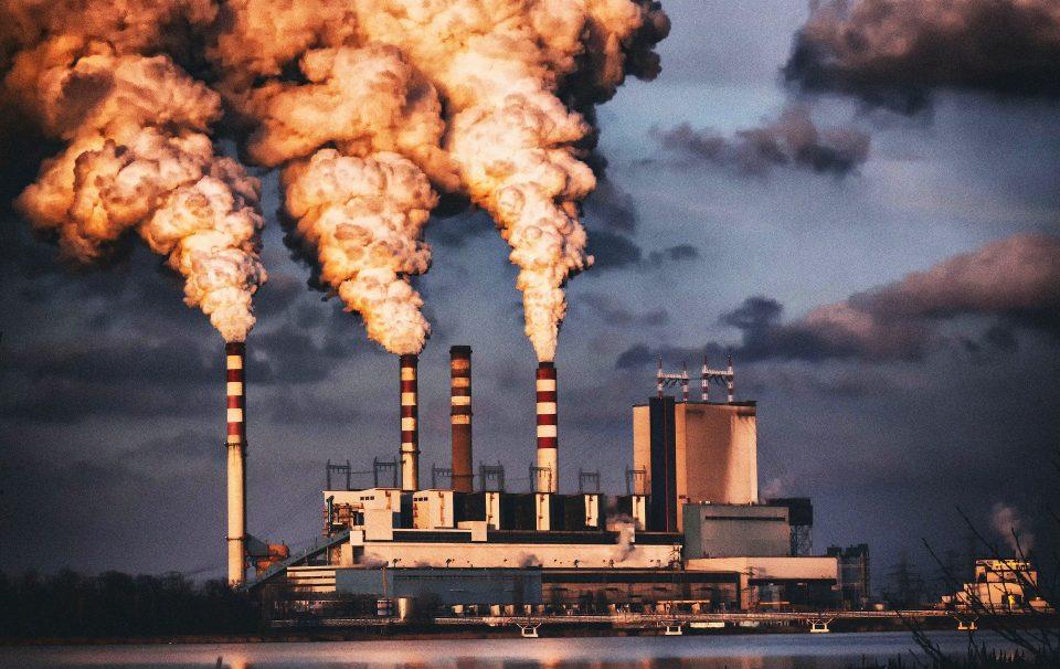 power station chimney smoke