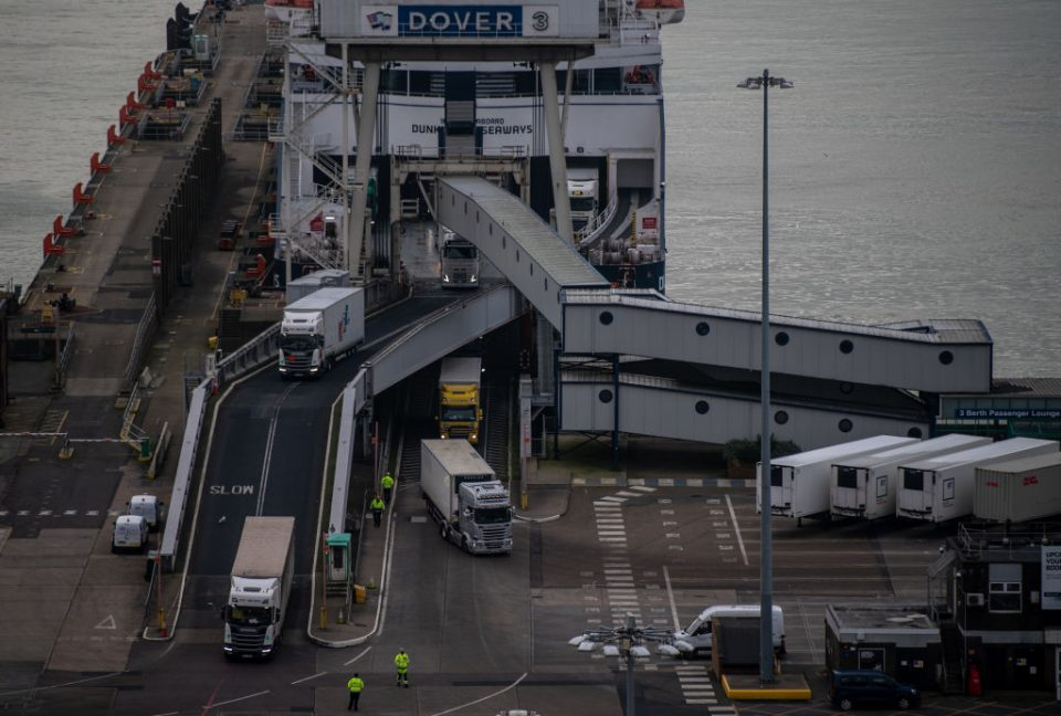 The total volume of trade between the UK and the EU plunged nearly a quarter in the first three months after the end of the Brexit transition agreement.