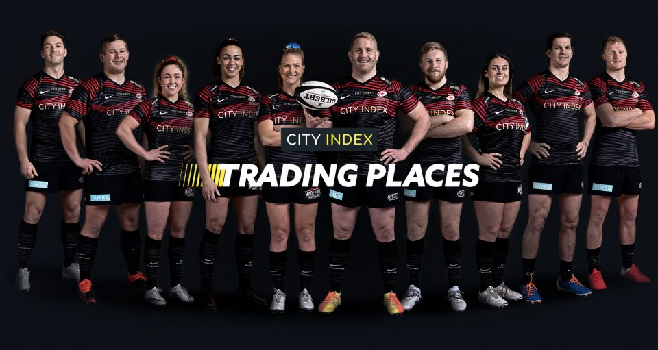 Jackson Wray is one of 10 players from Saracens' men's and women's team taking part in a charity trading challenge organised by the club's sponsor, City Index