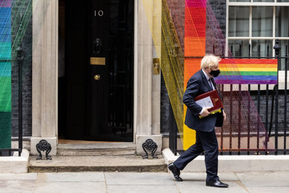 Boris Johnson Attends Prime Minister's Questions