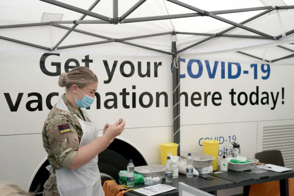 British Military Aid Vaccination Bus In Attempt To Halt The Spread Of The Delta Coronavirus Variant