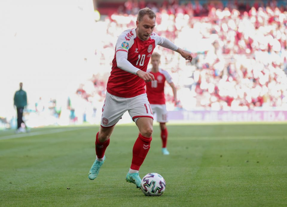 Eriksen collapsed on the field shortly before half-time in the Euro 2020 match between Denmark and Finland