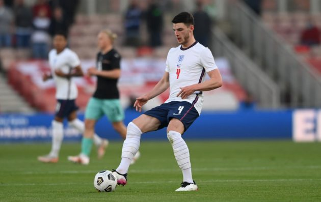 Phil Foden and Jack Grealish may be the fans' favourites, but Hoddle believes Declan Rice is England's most important player