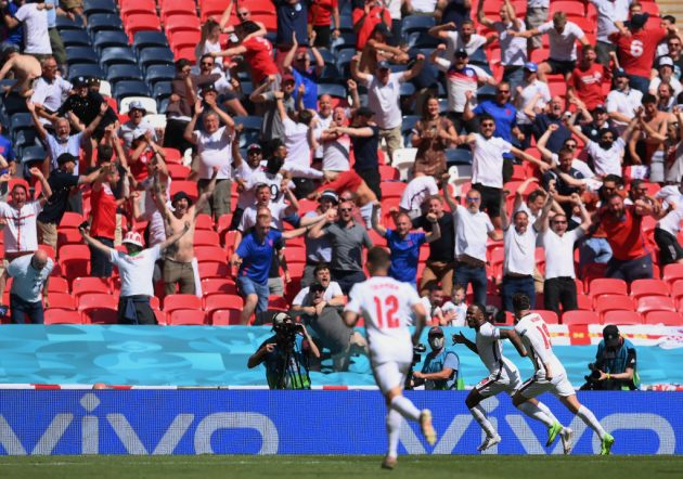 Wembley echoed to the sound of England fans for the first time since November 2019
