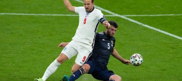 Kane had the fewest touches and lowest pass completion rate of any outfield England player against Scotland for a second Euro 2020 game running
