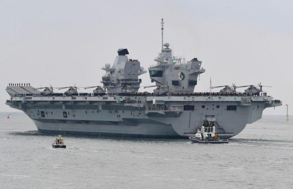 HMS Queen Elizabeth Maiden Deployment With Carrier Strike Group