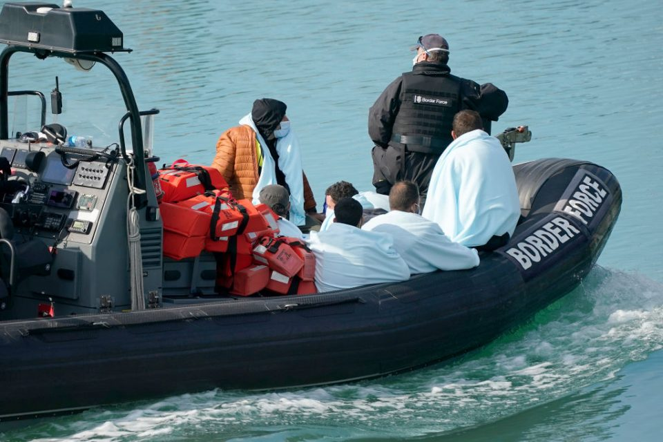Migrants Crossing English Channel Intercepted By UK Border Force