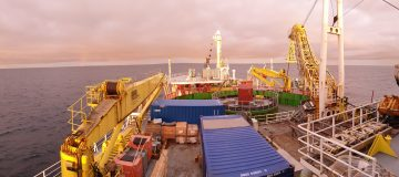 Construction work on the world's longest subsea electric cable has now been completed, the National Grid announced today.