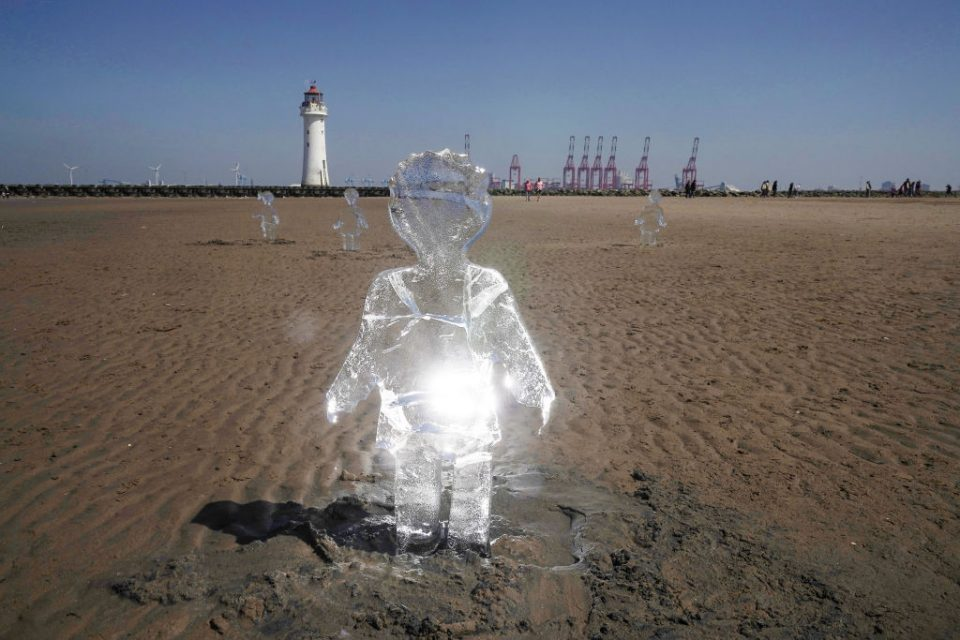 Sand Artwork Highlights Climate Change Ahead Of COP26