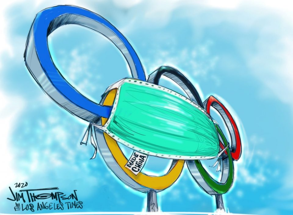 Toon In! contains more than 1,200 cartoons about the Olympic Games