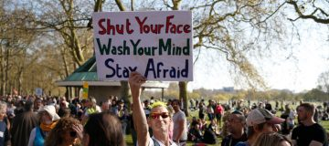"""""""Unite For Freedom"""" Protest Against Vaccine Passports Held In London"""