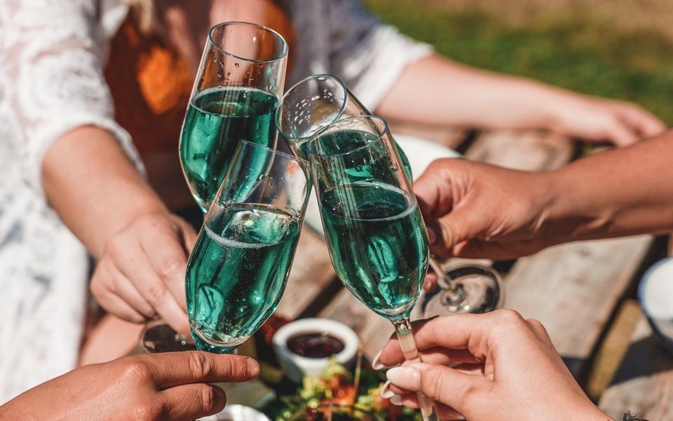 delicious blue wine