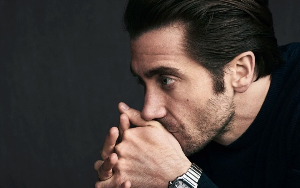 Jake Gyllenhaal, a men's style icon, in the Cartier Santos watch campaign