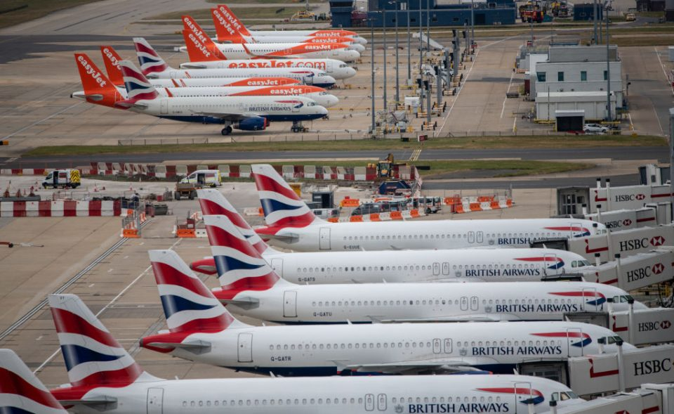 The UK's airlines have been the slowest in Europe to recover from the coronavirus pandemic, new figures released tonight show, as travel restrictions continue to hammer the sector.