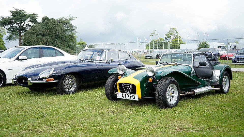 Jaguar E-Type and Caterham Seven