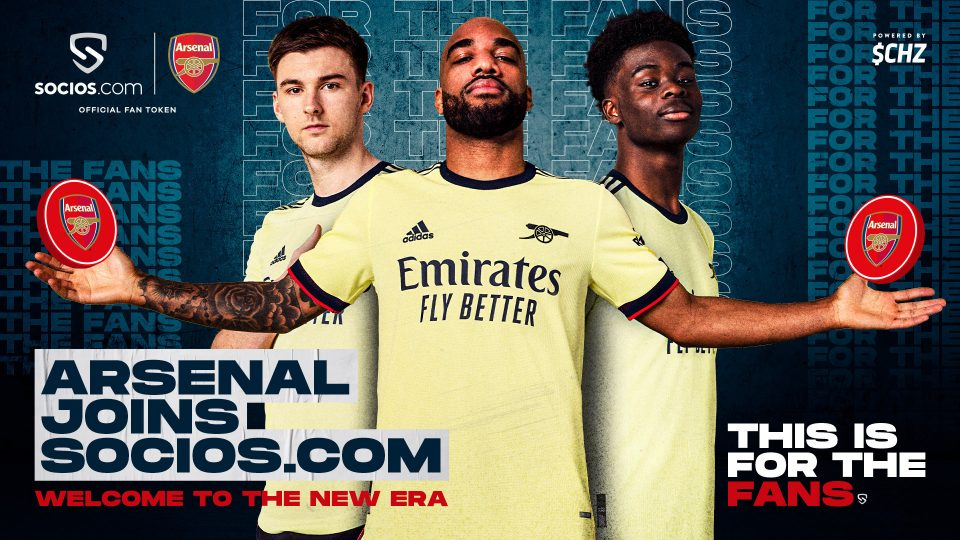 Arsenal announced its partnership with Socios last week and more Premier League teams are set to follow suit in August