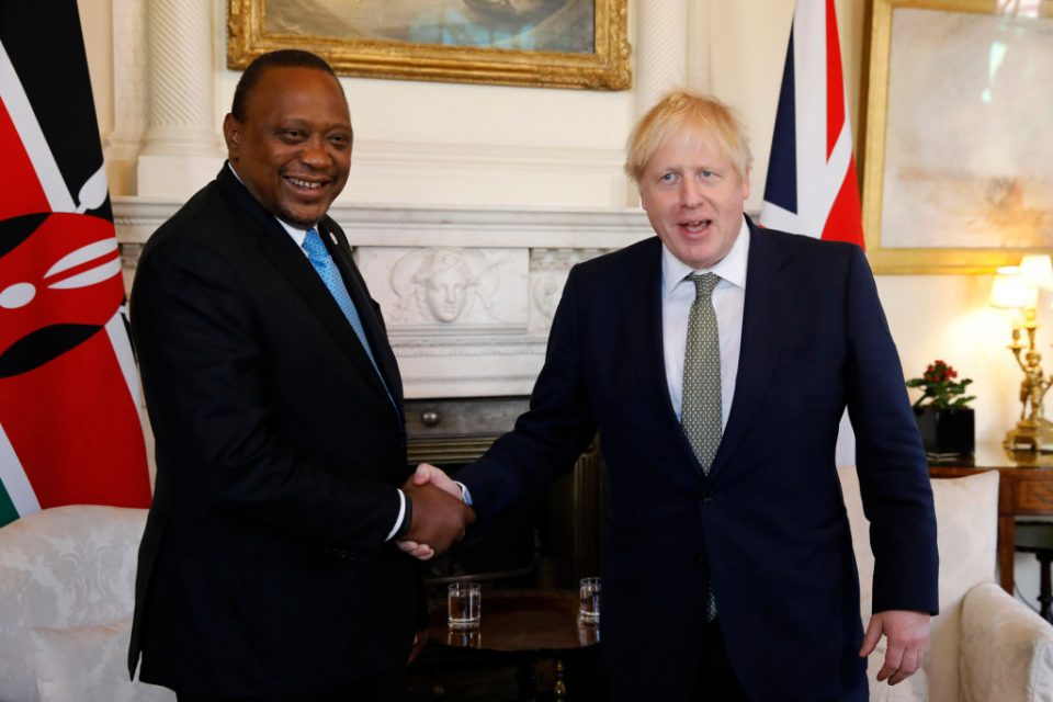Boris Johnson Hosts Kenyan President Uhuru Kenyatta