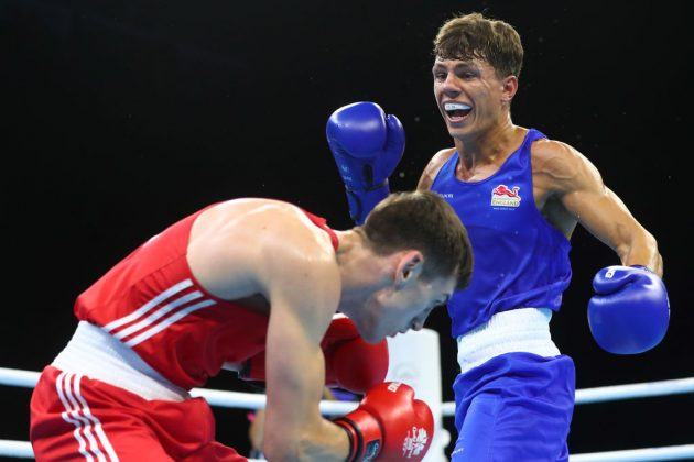 Team GB boxer Pat McCormack (right) won gold at the European Championships