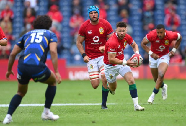The Lions played Japan for the first time in a one-off match before setting off for South Africa