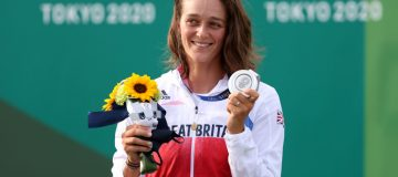 Mallory Franklin of Team GB won silver as the women's C1 canoe slalom made its Olympic debut at Tokyo 2020
