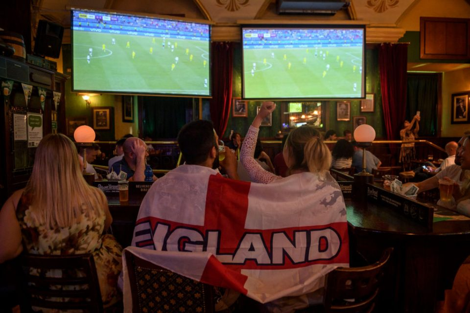 Football Fans In Rome Watch England Play Ukraine In UEFA Euro 2020 Match