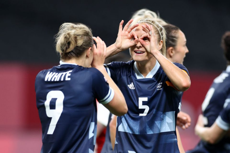 Ellen White scored twice as Team GB began their Tokyo 2020 women's football campaign with a win over Chile