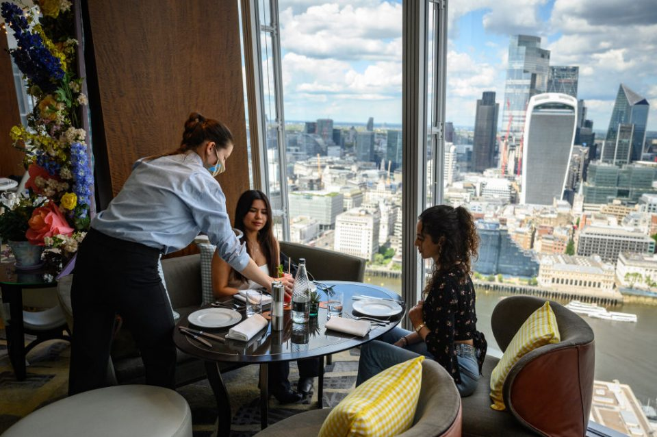 Guests Return To London's Shangri-La Hotel At The Shard
