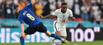 England forward Raheem Sterling has been named in Uefa's official Euro 2020 team of the tournament