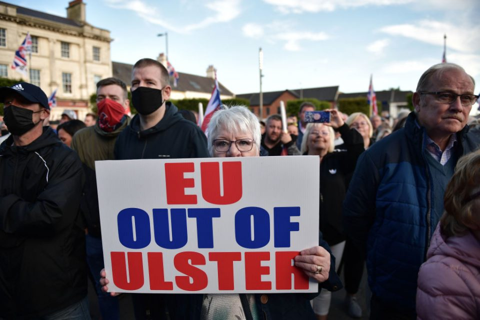 Loyalists Protest Against The Northern Ireland Protocol