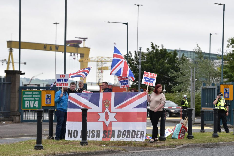 Loyalists Protest The Northern Ireland Protocol