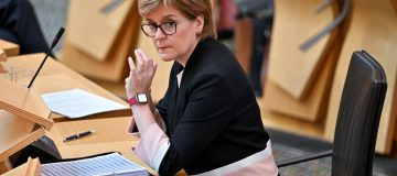 Nicola Sturgeon Attends First Minister's Questions