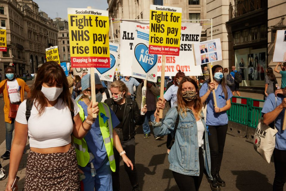 Protest For Pay Rise For NHS Workers
