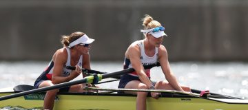Team GB's Helen Glover (left) was chasing a third Olympic gold medal, this time alongside Polly Swann at Tokyo 2020