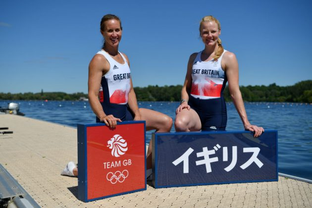 Helen Glover (left) will try to complete a hat-trick of rowing golds alongside Polly Swann (right)
