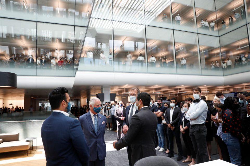 The Prince Of Wales Visits Goldman Sachs