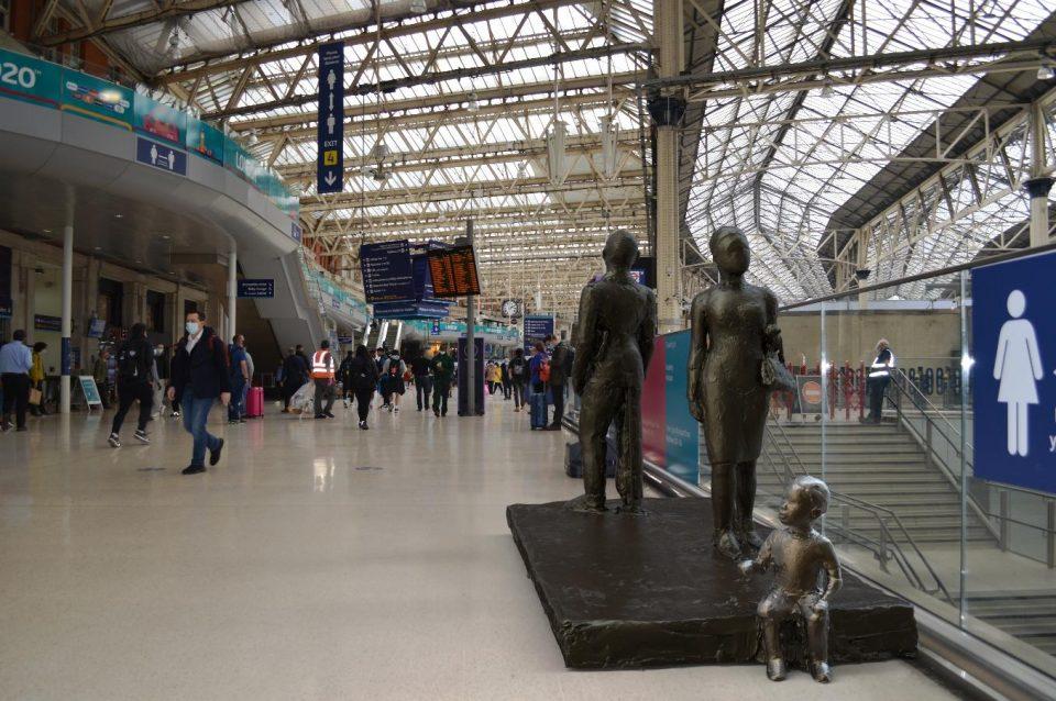 Valda Jackson - proposed Windrush monument in situ at Waterloo Station, London
