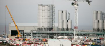 Views Of Hinkley Point C nuclear power plant
