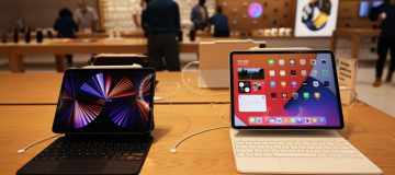 Apple Displays New Products At 5th Ave Store In New York City