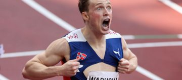 Warholm also wears a form of super-spikes but wants World Athletics to act to protect competitors and viewers