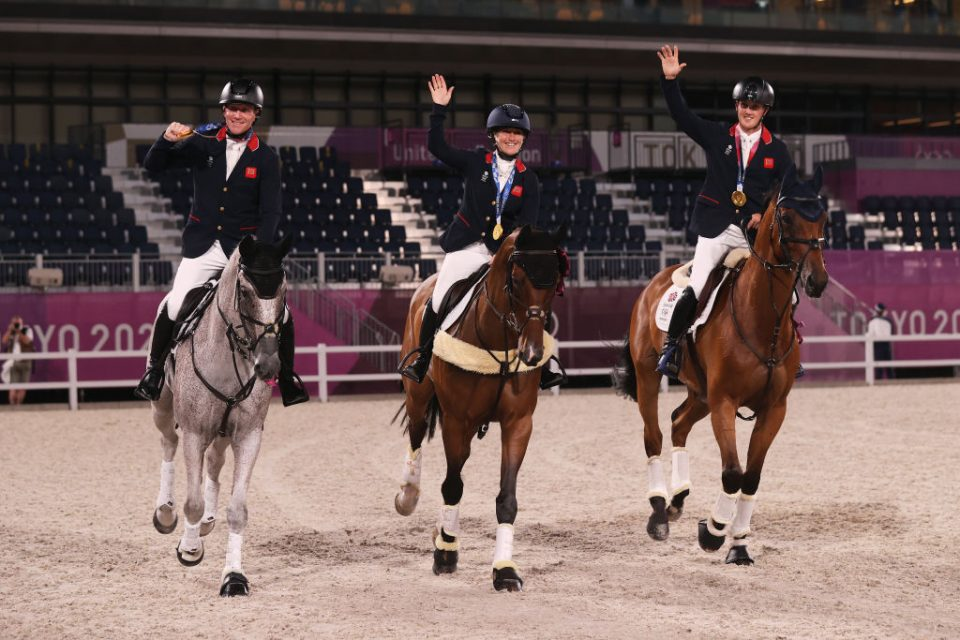 Team GB's Oliver Townend, Laura Collett and Tom McEwen won gold in the team eventing at the Tokyo 2020 Olympics and McEwen later added individual silver