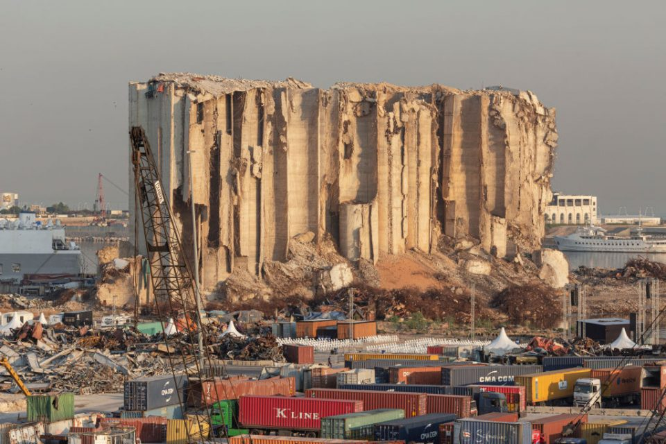 Lebanese Mark A Year Since Beirut's Port Explosion