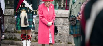 Queen Elizabeth II Inspects The Balaklava Company Of The Royal Regiment Of Scotland