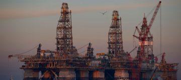 Semi-submersible Drilling Platform, Noble Danny Adkins, Moved Through Port Aransas Channel