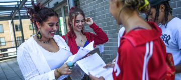 Students Receive A Level Results In England and Wales