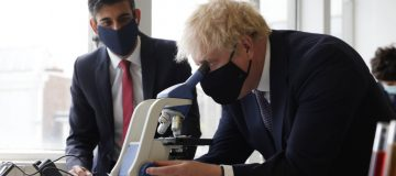 UK Prime Minister And Chancellor Visit A School in Central London